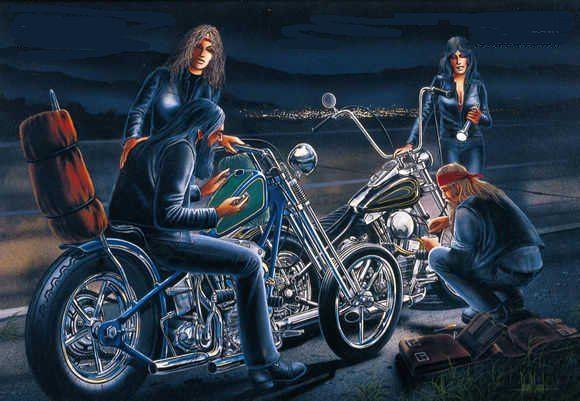 EASYRIDERS DAVE MANN | BIKER ART