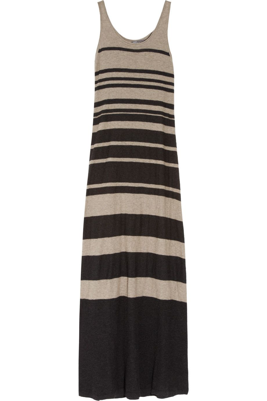 Vince striped knitted cotton maxi dress h o t pinterest cotton