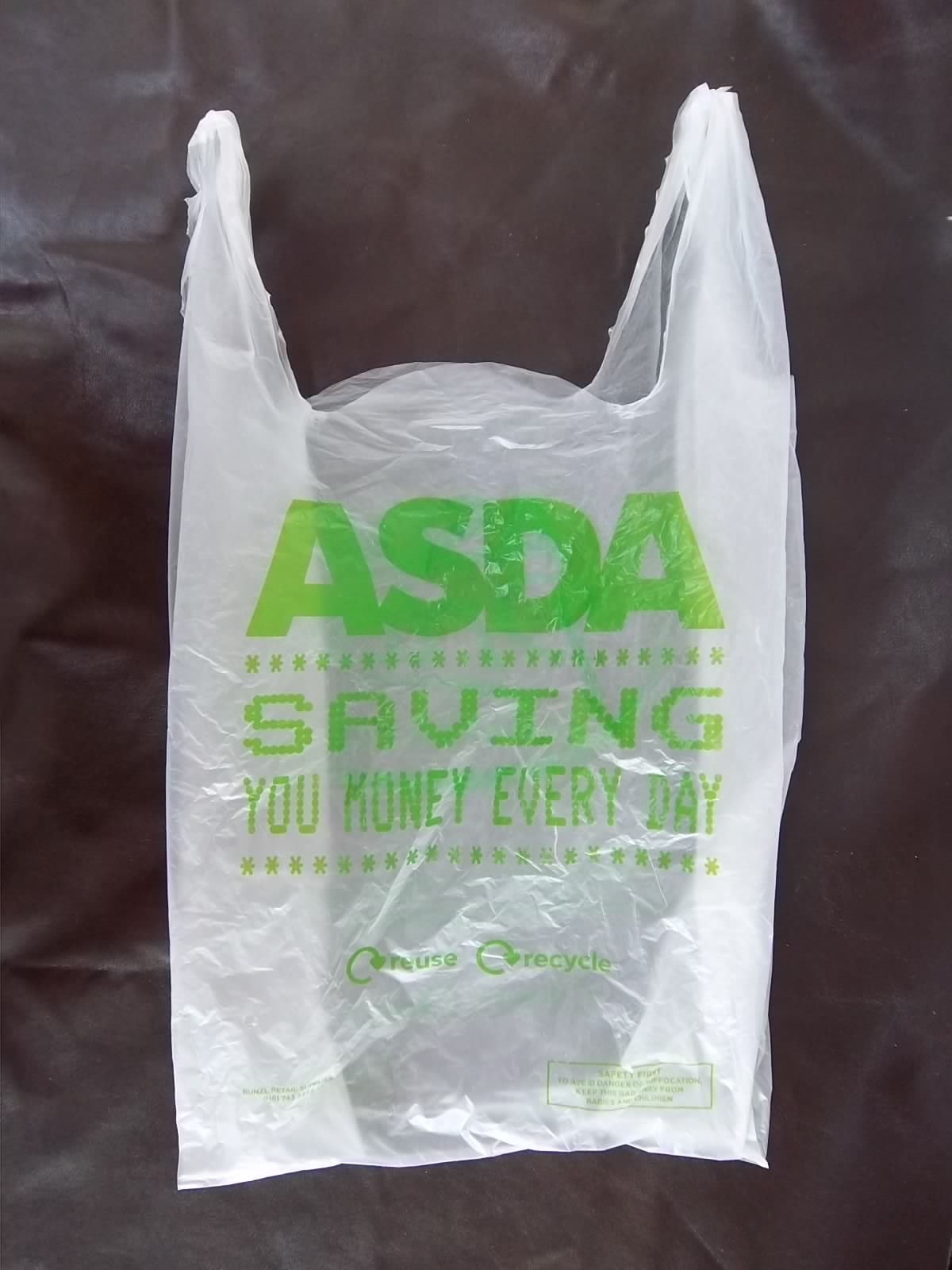 Carrier Bag Asda Smile I Laughed How To Make Bags Coconut