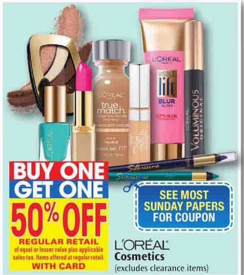 Nice Save On L Oreal Cosmetics With These Printable Coupons And Rite Aid Bogo 50 Off Sale Printable Coupons Coupons 50 Off Sale