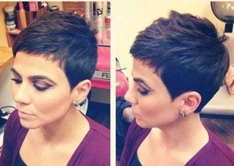 Short-Pixie-Cut-Dark-Hair Superb Short Pixie Haircuts for Women #shortpixie #shortpixiehaircuts