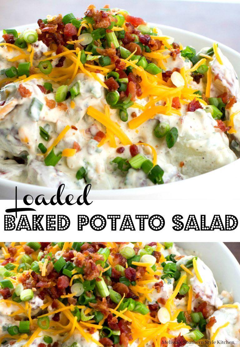 Loaded Baked Potato Salad Loaded Baked Potato Salad Potatoe Salad Recipe Baked Potato Salad