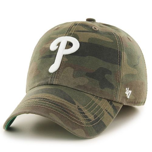 981a3ebf3a1 Men s Philadelphia Phillies  47 Camo Harlan Franchise Fitted Hat ...