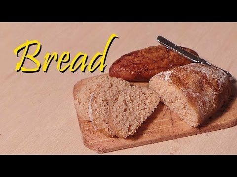 ▶ Mini Series#1 Pt.4; Simple Miniature Loaf of Bread - Polymer Clay - YouTube