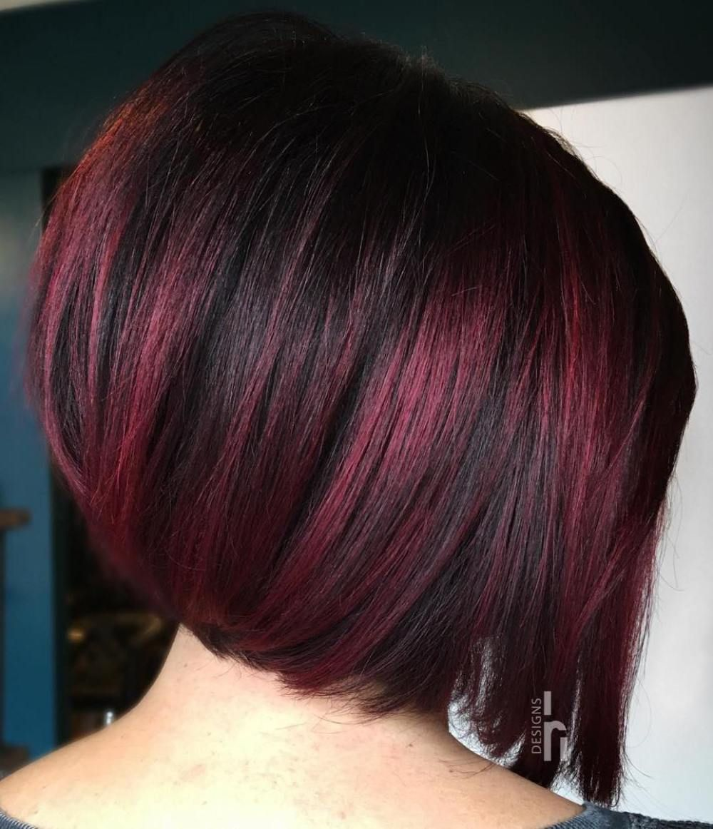 45 Shades Of Burgundy Hair Dark Burgundy Maroon Burgundy With Red Purple And Brown Highlights Hair Color Burgundy Edgy Hair Short Burgundy Hair