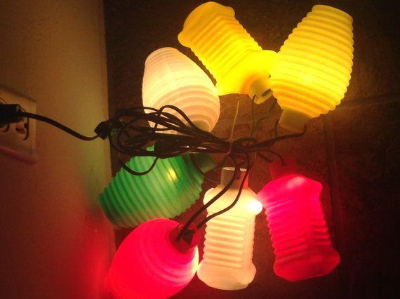 Camping Patio Lights Vintage Plastic String Light Set