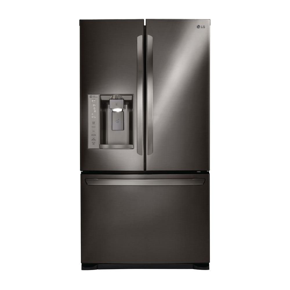 Lg Electronics 27 9 Cu Ft French Door Smart Refrigerator With Wifi Enabled In Black Stainless Steel Lfxs28968d Lg French Door Refrigerator French Door Refrigerator French Doors