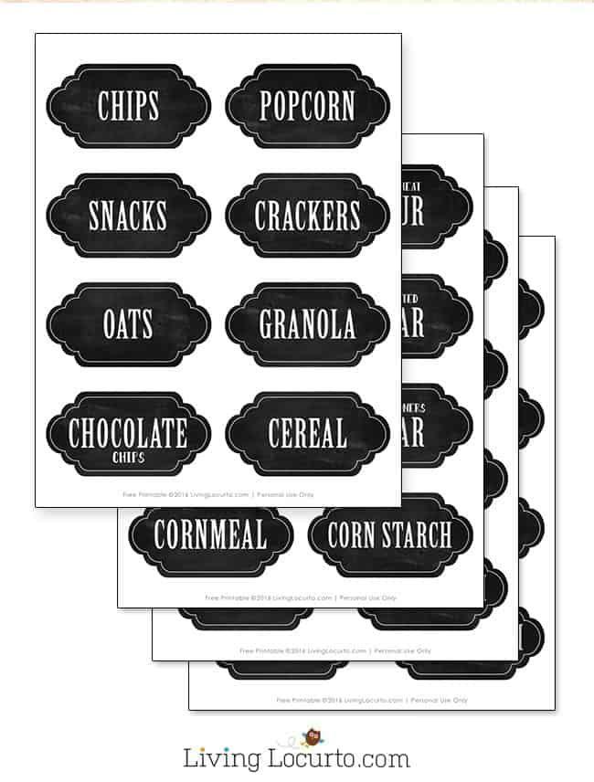Kitchen Pantry Organization Ideas with Printable Labels #kitchenpantryorganization