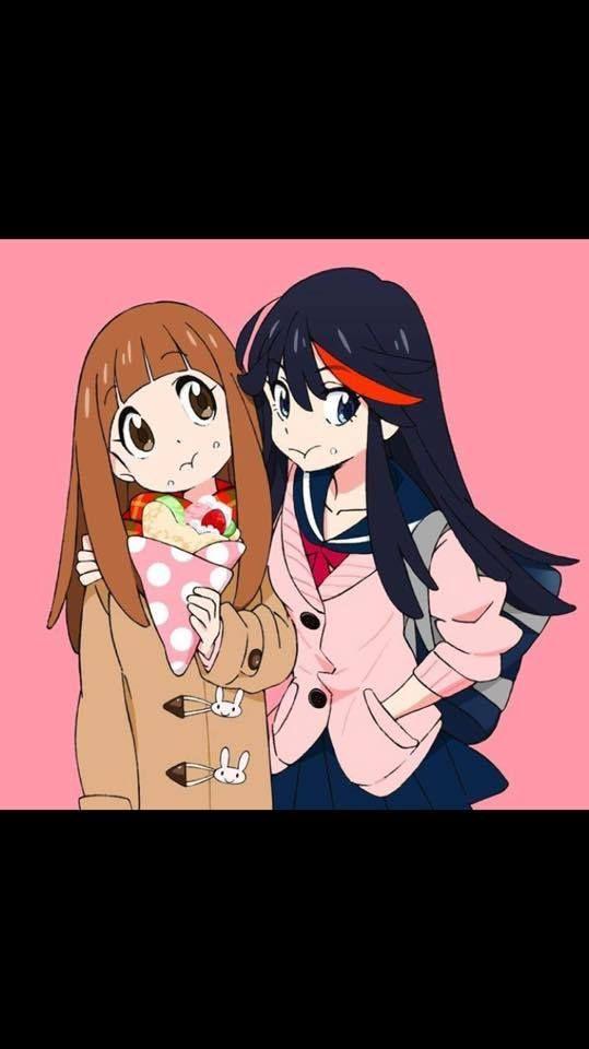 Ryuko And Mako Long Hair Kill La Kill Anime Cute Pokemon