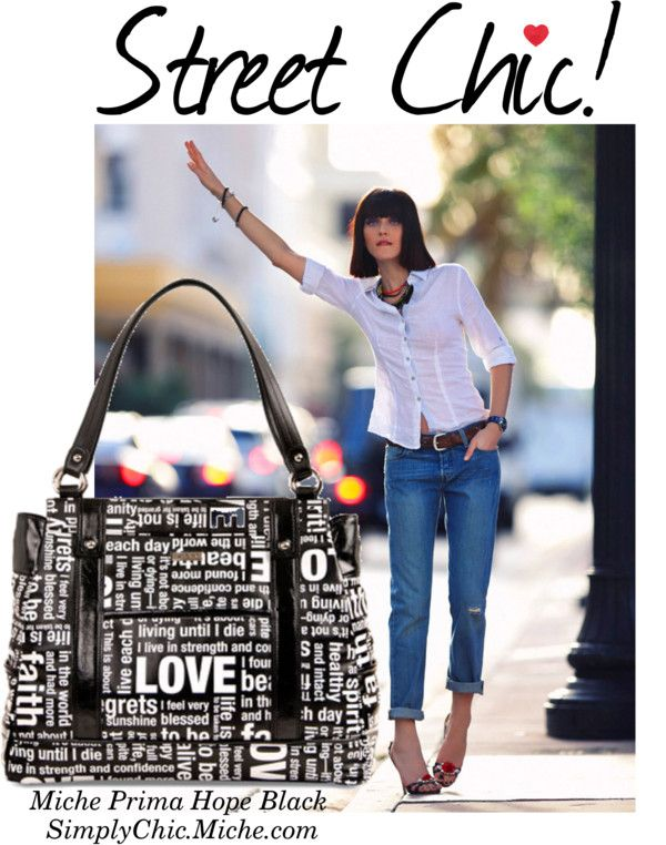 """""""Miche Prima Hope Black"""" by miche-kat on Polyvore  Edgy and Chic!  http://www.simplychicforyou.com/"""