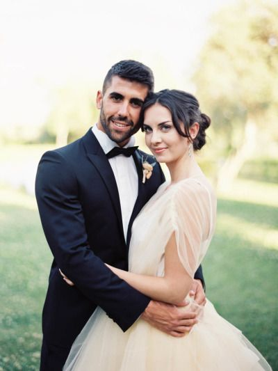 Stunning bride and groom: http://www.stylemepretty.com/2014/10/07/glamorous-floral-wedding-in-marbella-spain/ | Photography: Sandoval Studios - http://www.sandovalstudios.com/