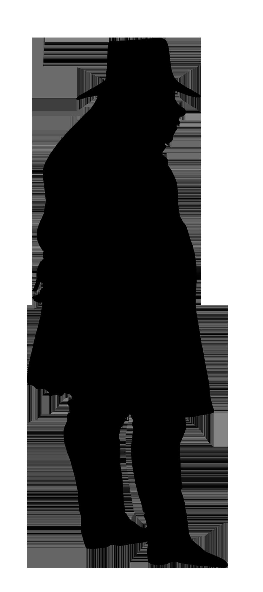 Elderly Man Silhouette Silhouette Clip Art Victorian