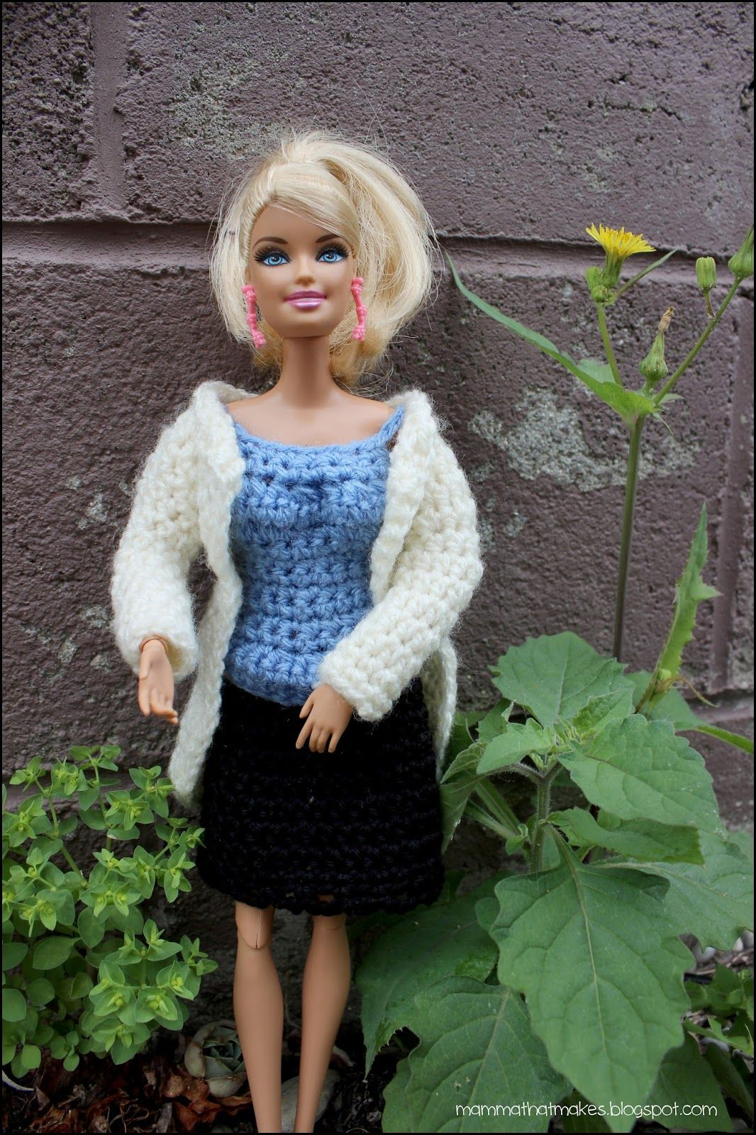 Laura Lab Full Outfit For Barbie Crochet Barbie Clothes