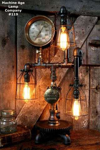 Pin On Steampunk Lighting By Machine Age Lamps