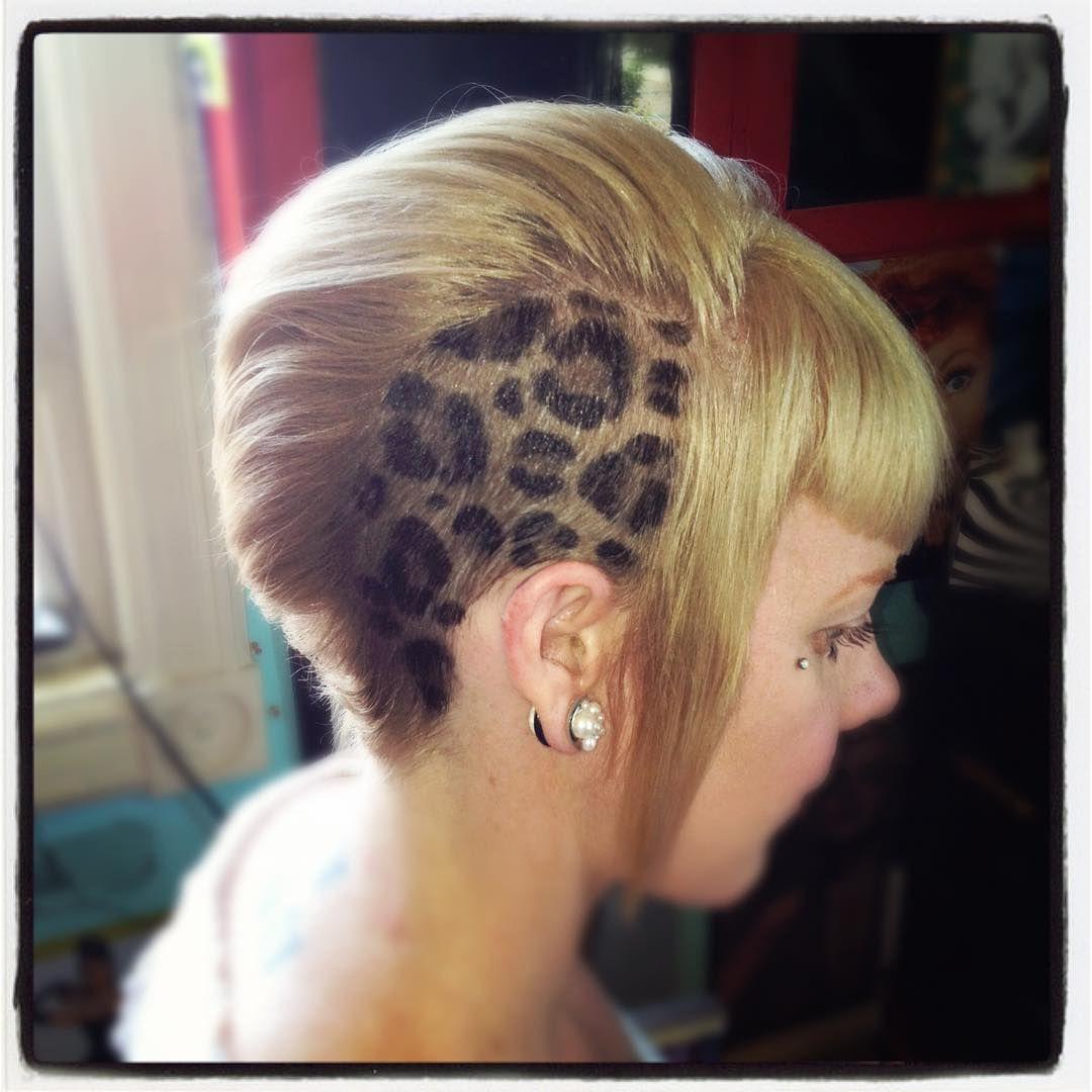 Shavedhead Buzzcut Leopard Undercut Shaved Head Designs Hair Designs Leopard Hair