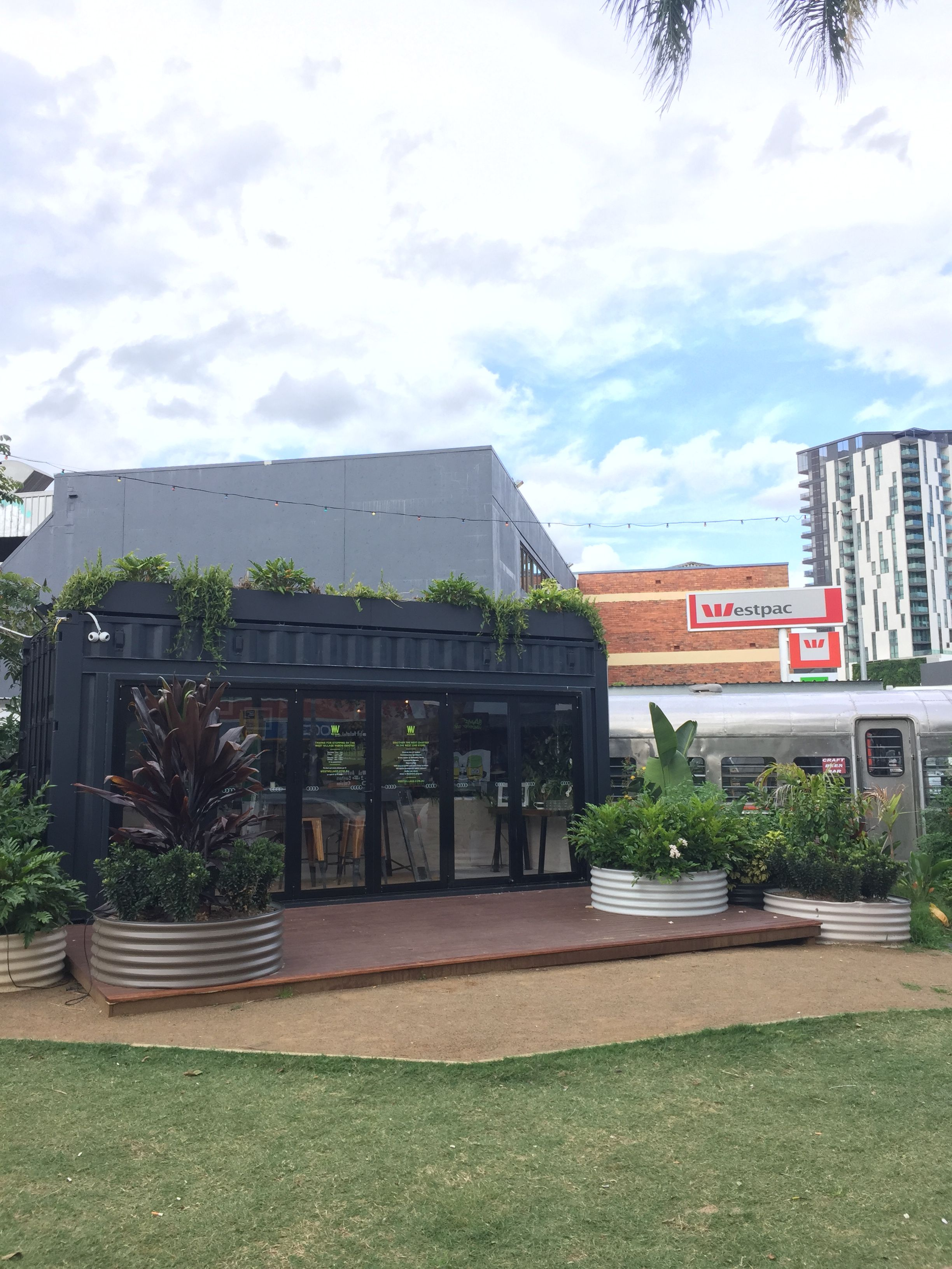This was part of Boundary Street Market. There were a bunch of shipping containers and old trailers converted t… | Brisbane architecture ...