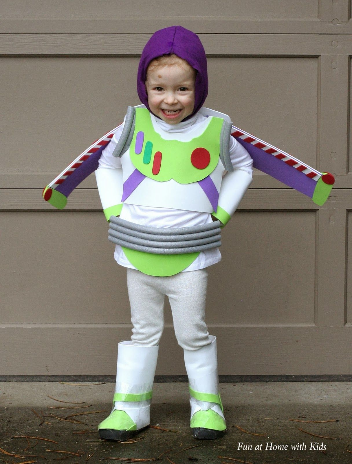 DIY Kids Buzz Lightyear No Sew Halloween Costume | Buzz lightyear ...