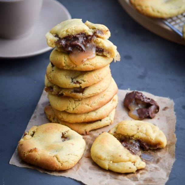 Inside-Out Twix Cookies. Inside-Out Twix Cookies #sweets #desserts #recipes #twixcookies
