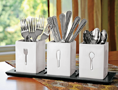 Organizing The Flatware When You Don T Have Kitchen Drawers