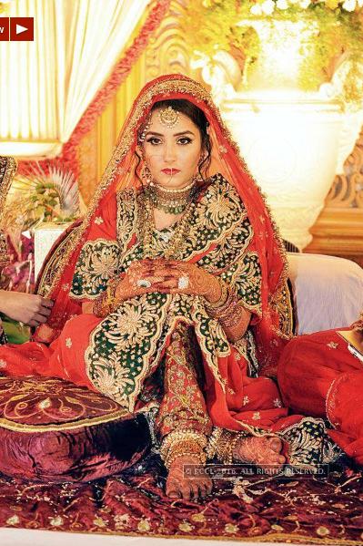 Khada Dupatta | Hyderabadi Bride | khada dupatta | Pinterest
