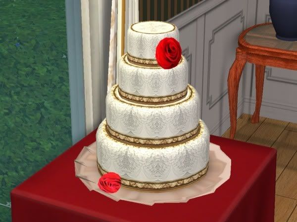 Mehndi Cake Download : A white recolor of eris3000's triple chocolate fudge cake. sims 2