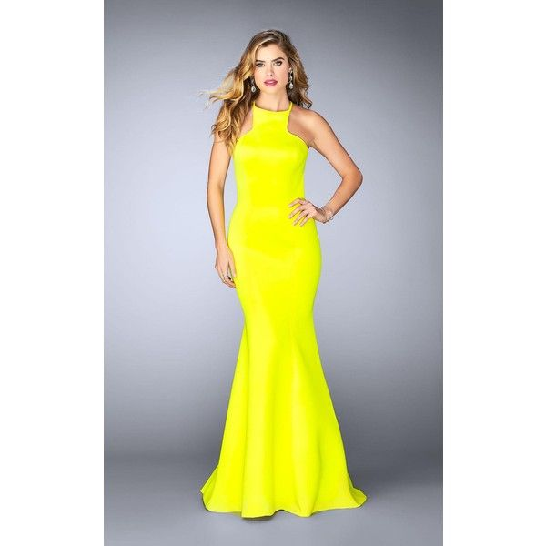 La femme yellow long dress