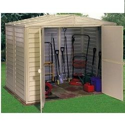 Duramax Vinyl Sheds 8x6 Duramate Shed 00181 Outside Storage Shed Outdoor Storage Sheds Metal Storage Buildings
