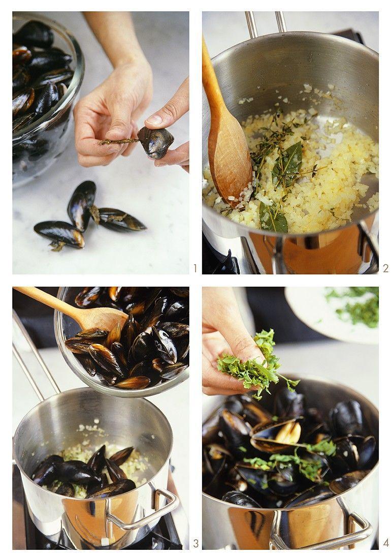 Miesmuscheln im Weinsud #seafooddishes