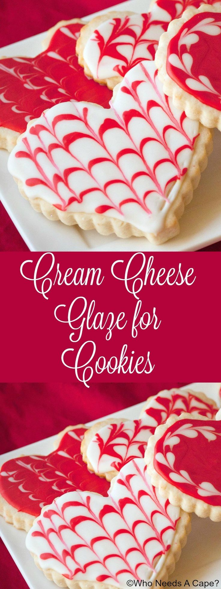 Make this amazing Cream Cheese Glaze for Cookies instead of royal icing Easy to  Valentines Day Recipes  More