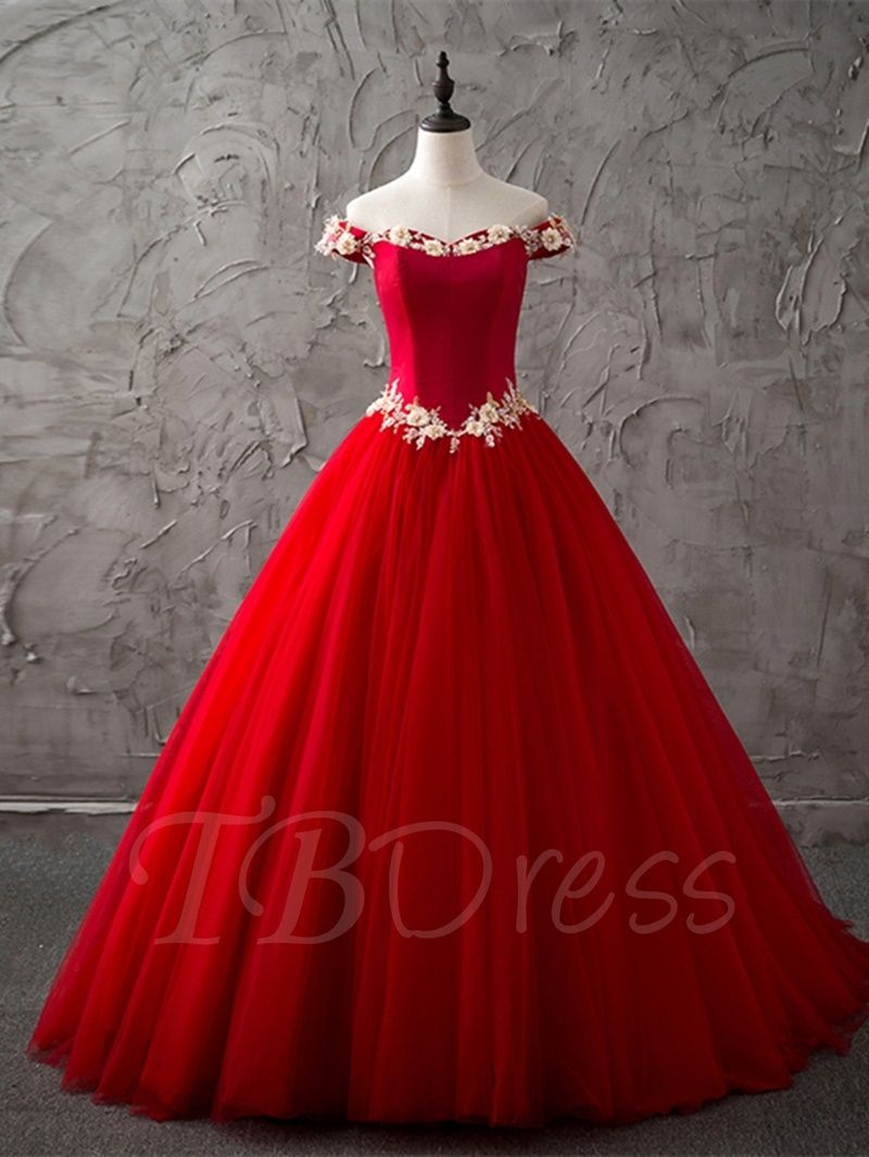 87bb5011516d5 Tbdress.com offers high quality Ball Gown Sleeveless Off-the-Shoulder  Flowers Sweep