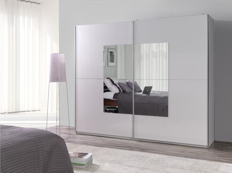 Grote Kledingkast Met Spiegel.Moderne Design Kledingkast Voorzien Van Een Grote Spiegel Op De