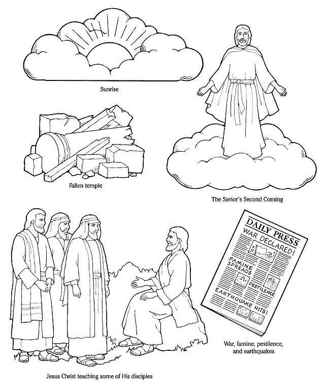 lesson 43 jesus christ will come again primary 2 choose the right a - Choose The Right Coloring Page