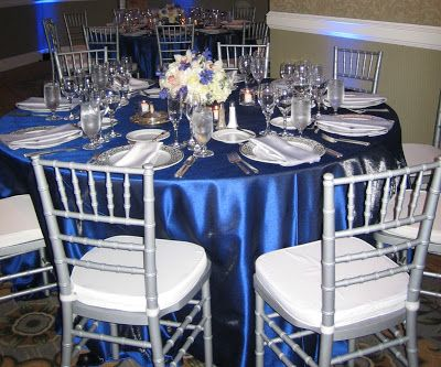 Royal Blue Chocolate Silver Project Wedding Blue Wedding