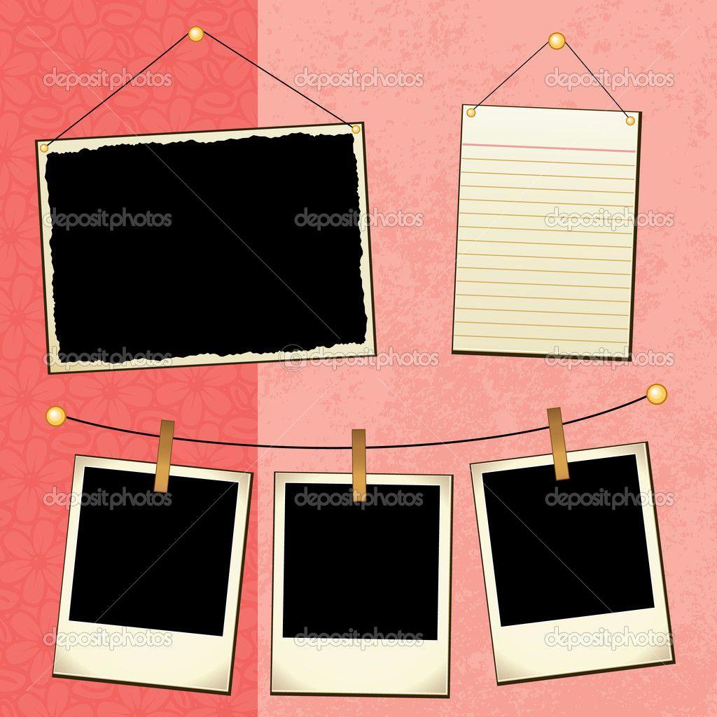 Scrapbook template stock vector joeiera 8923651 for Templates for scrapbooking to print