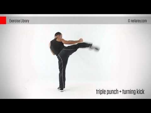 Triple Punch + Turning Kick