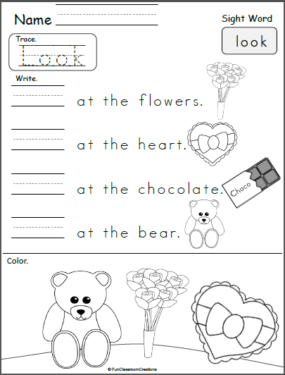 Valentine S Day Sight Word Printable Look Made By Teachers Sight Words Kindergarten Sight Words Valentine Sight Words