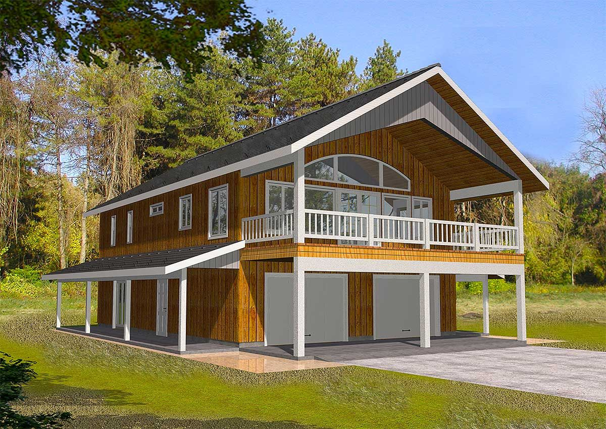 carriage house plans carriage house plan for a sloping or