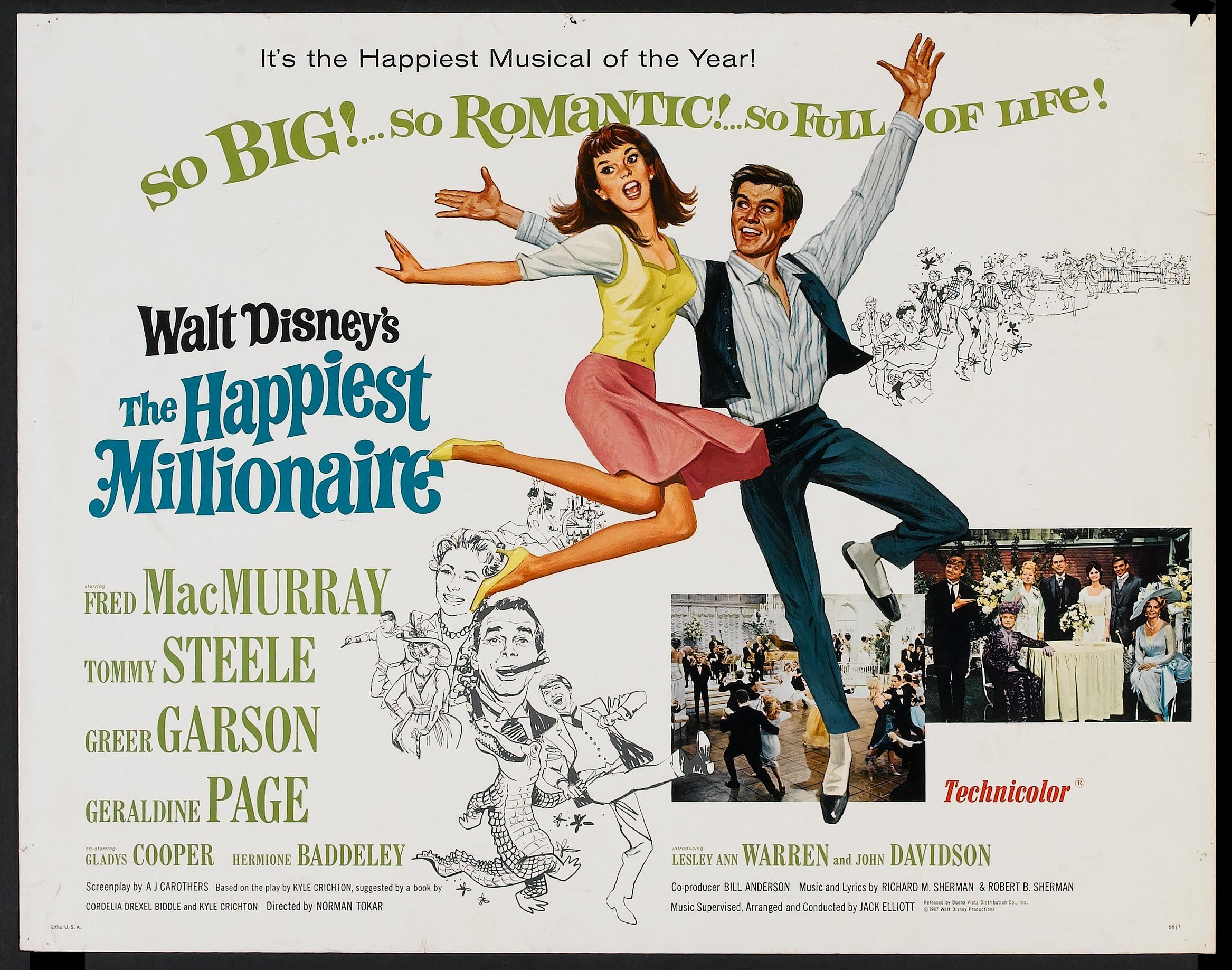 "Walt Disney's ""The Happiest Millionaire"" (1967) Stars: Fred ..."