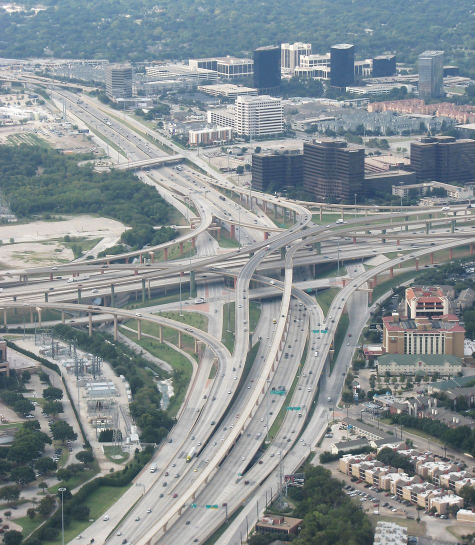 Dallas Fort Worth Texas: Dallas-Fort Worth Freeways High Five Interchange US 75 At
