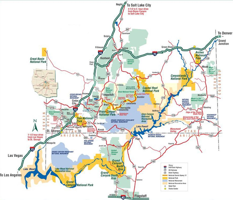 The Map Below Shows Many Of The Primary Attractions In The