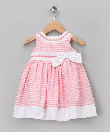 Matilda 39 s wardrobe gingham with white contrast and rickrack nens pinterest vestidos para - Monalisa moda infantil ...