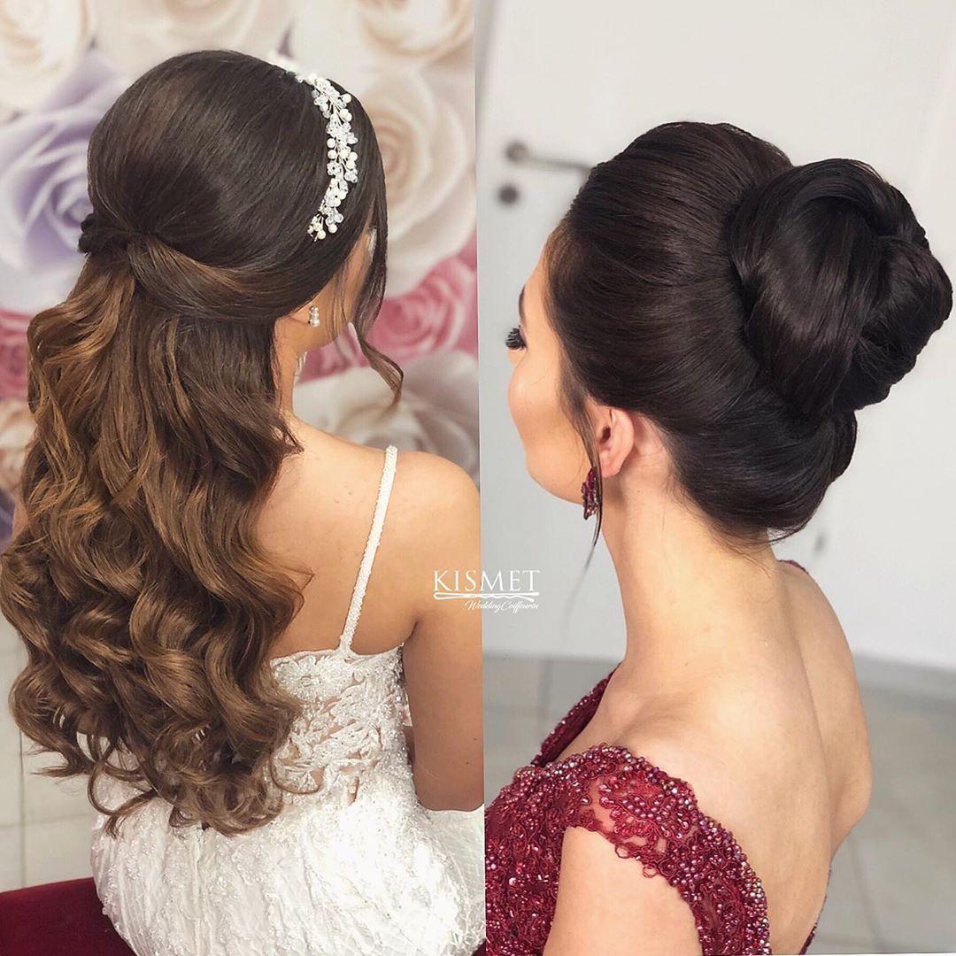 Hairstyle Left Or Right Bridehairstyle Leftorright Kismet Coiffeurin Bielefeld Bochum Bridehairstyle Bridetobe Brownhair Curlyhair Friseur
