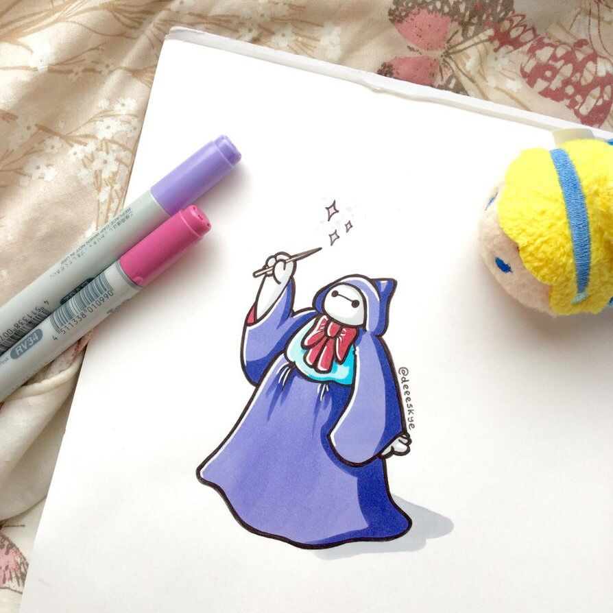 Baymax Dressed As Disney Characters Google Search Doodlin - Baymax imagined famous disney characters