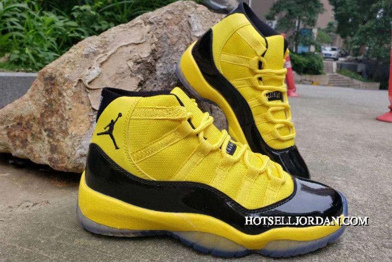 New Style Air Jordan 11 Bumblebee Yellow Black In 2020 Air