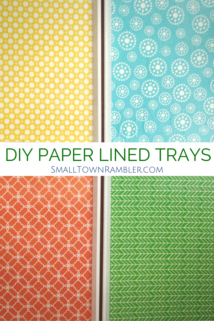 Paper Lined Diy Paper Lined Trays  Pinterest  Diy Paper Trays And Decorative .