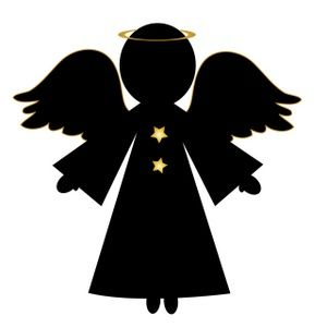 Free Angel Clip Art Image: Christmas Angel in Silhouette ...