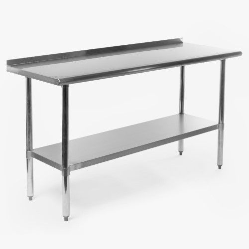 Gridmann NSF Stainless Steel Commercial Kitchen Prep Work Table W Mesmerizing Stainless Steel Work Table With Backsplash Design