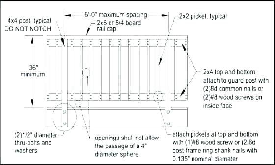 Banister Railing Code Balcony Height Extension Of Deck New ...
