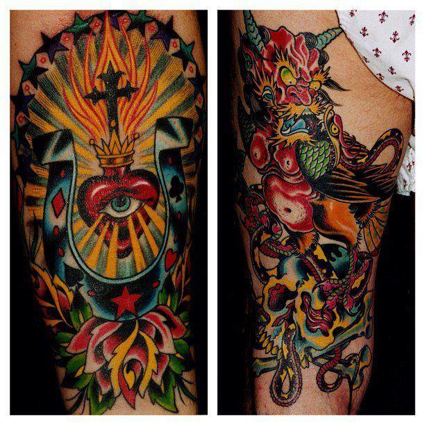 BRAD FINK, IRON AGE TATTOO, USA Traditional tattoo, Cool
