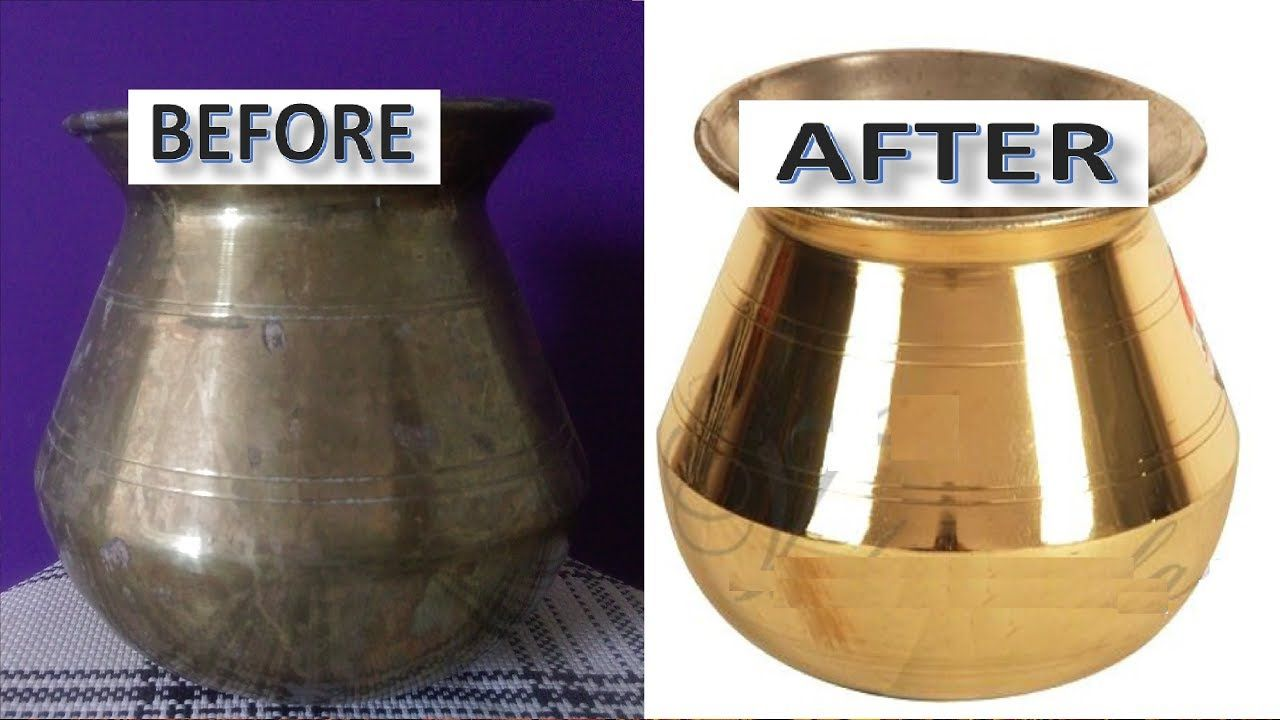 How to Clean Brass Vessels at Home Very Easy The